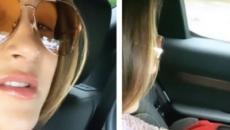 Claudia Leitte deixa maternidade em Miami com a filha Bela