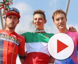 Davide Formolo in maglia tricolore di Campione d'Italia