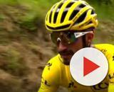 Julian Alaphilippe in maglia gialla al Tour de France