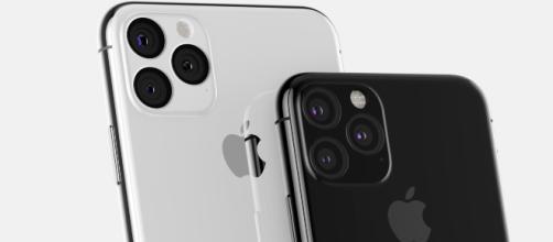 Iphone 11 cámara trasera de tres lentes