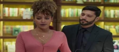 William descobre o caso de Diogo e Gisele. (Reprodução/ TV Globo)