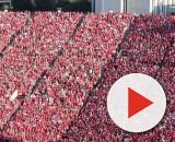 The Huskers are eight days away from their first game. [Image via Kevin Thomas/YouTube]