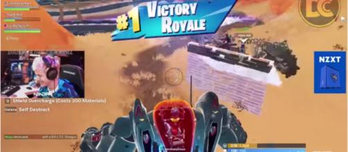 Ninja getting that Victory Royale using BRUTEs. [Image source: Daily Clips Central/YouTube]