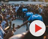 La Movistar alla presentazione delle squadre della Vuelta Espana