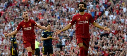 Salah comandou a vitória do Liverpool sobre o Arsenal. (Reprodução/Twitter/Liverpool)