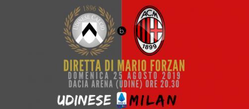 Riparte la Serie A dalla Dacia Arena in diretta blastingnews: Udinese - Milan
