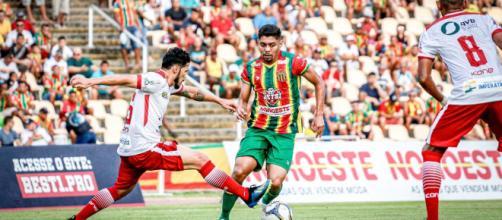 Sampaio Correa vacilou em casa e perdeu a primeira colocação. (Reprodução/Lucas Almeida / Sampaio Corrêa)