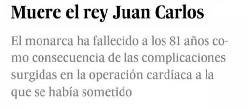 Captura de pantalla de la noticia de El País en un móvil. / El Nacional