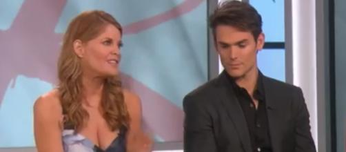 Phyllis joins forces with Adam. [Image Source: CBS/YouTube]