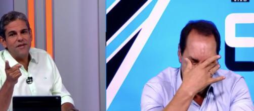 Edmundo chorou de emoção durante programa. (Reprodução/ YouTube/ Fox Sports)