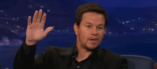 Wahlberg is a popular fixture during Patriots' games (Image Credit: Team Coco/YouTube)