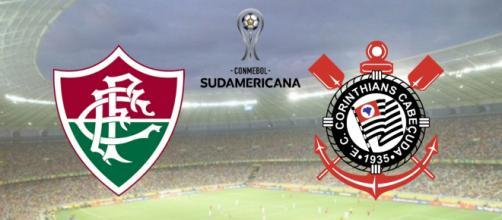 Fluminense x Corinthians é válido pela Copa Sul-Americana. (Fotomontagem)