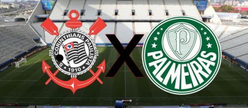 Corinthians x Palmeiras fazem duelo interessante nesta Série A. (Fotomontagem)