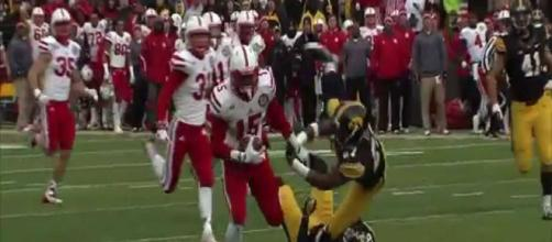 Nebraska football has a rivalry with Iowa. [Image via Nebraska Huskers/YouTube]