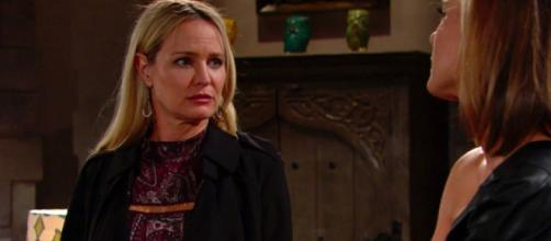 The Young and the Restless: Sharon runs into Rey (image spource: Y&R Twitter verified account)