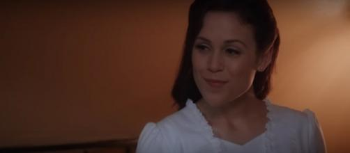 "Erin Krakow of ""When Calls the Heart"" is hard at work on Season 7, but still having fun, too. [Image source: TVPromos-YouTube]"