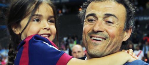 Luis Enrique despide a su hija con un mensaje
