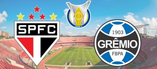 São Paulo x Grêmio com transmissão ao vivo do Premiere. (Fotomontagem)