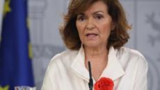 Carmen Calvo defiende la posición del Gobierno durante la crisis del Open Arms