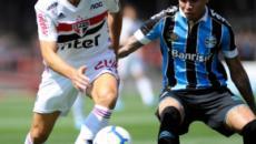 Em jogo com acidente na arquibancada, São Paulo e Grêmio não saem do 0 a 0