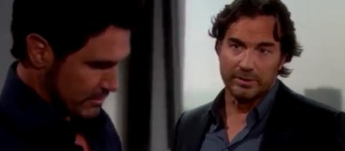 """Dollar Bill and Ridge investigate Emma's death. Image Source: The Bold and the Beautiful""""-YouTube.)"""