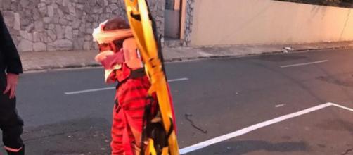 Homem foi fotografado na rua. (Arquivo Pessoal)