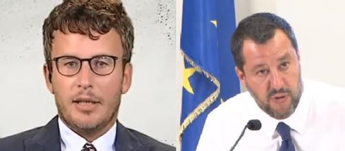Diego Fusaro prende posizione rispetto alla foto di Salvini confrontata quella di Aldo Moro.