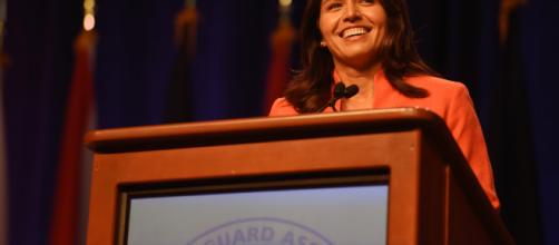 Tulsi Gabbard went on the offensive against Kamala Harris at last debate. Photo credit / Jim Greenhill via Flickr