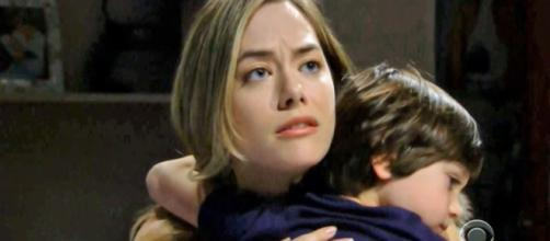 Hope may soon be holding, her own child, Beth in her arms.(Image Source: CBS-YouTube.)