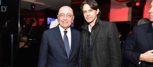 Adriano Galliani e Pippo Inzaghi