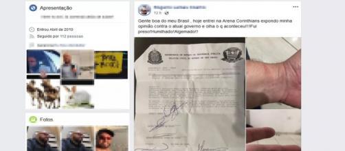 Homem acabou detido por criticar Bolsonaro. (Reprodução/ Facebook)