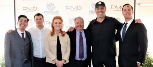 M. Alberto Ramirez, Michael Evers, Sarah Ferguson The Duchess of York, Jay Bloom, Tony Robbins, Dan Briggs - courtesy - Pegasus Group Holdings