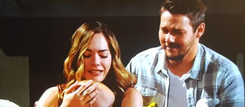 Unbeknownst to Steffy, Liam and Hope go to her home to reunite with baby Beth. [CBS / YouTube]