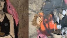 Taormina, avvocato leghista danneggia il graffito raffigurante Carola Rackete