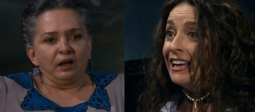 Cíntia descobre que é filha de Maria. (Reprodução/Televisa)