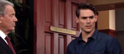 Victor sides with Nick against Adam.(Image Source: Y&R/YouTube.)