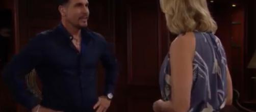Brooke turns to Bill yet again. [Image Source:CBS The Bold and the Beautiful/YouTube]