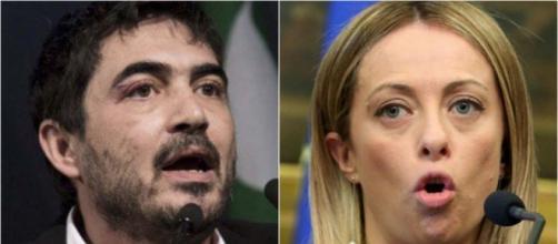 Scambio di accuse tra Nicola Fratoianni e Giorgia Meloni