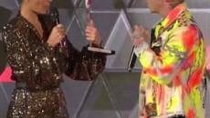 Salmo durante l'RTL Power Hits Estate: 'Posso bestemmiare?No va beh, non lo farò'