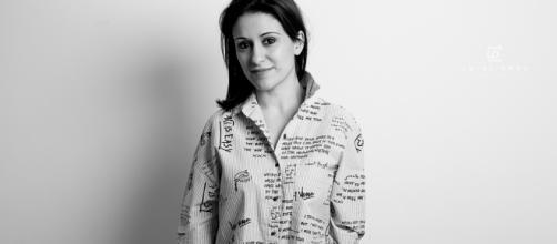 Debora Scalzo in uno scatto black&white