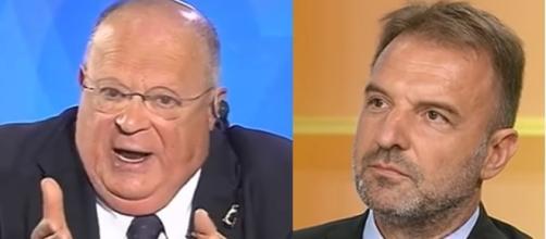 Duro scontro in dirertta tra l'economista Cazzola e il leghista Bitonci, poi ricomposto