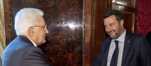 Matteo Salvini alle ultime consultazioni del Presidente della Repubblica Sergio Mattarella