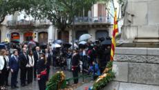 El himno español se cuela durante la ofrenda del Govern en la Diada
