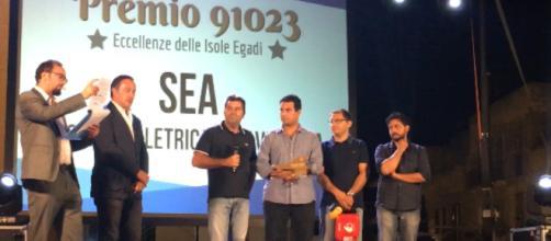 Cerimonia di premiazione della SEA di Favignana