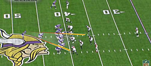 Gary Kubiak's outside-zone run scheme is making wonders for Dalvin Cook – image credit: NBC Sports/Youtube