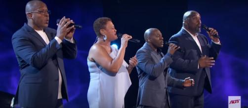 "Voices of Service got surprised by America's vote to the ""America's Got Talent"" finals after their moving performance. [Image source:AGT-YouTube]"