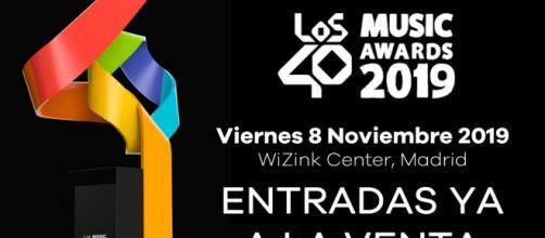 Anucnio de los premios. Imagen de Fans LOS40 Madrid