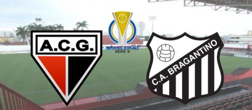 Atlético-GO x Bragantino terá transmissão ao vivo apenas na TV Fechada. (Fotomontagem)