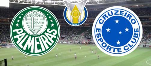 Cruzeiro x Palmeiras terá transmissão ao vivo do Premiere. (Fotomontagem)