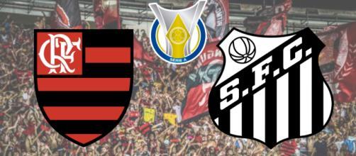 Flamengo x Santos terá transmissão ao vivo do PFC. (Fotomontagem)